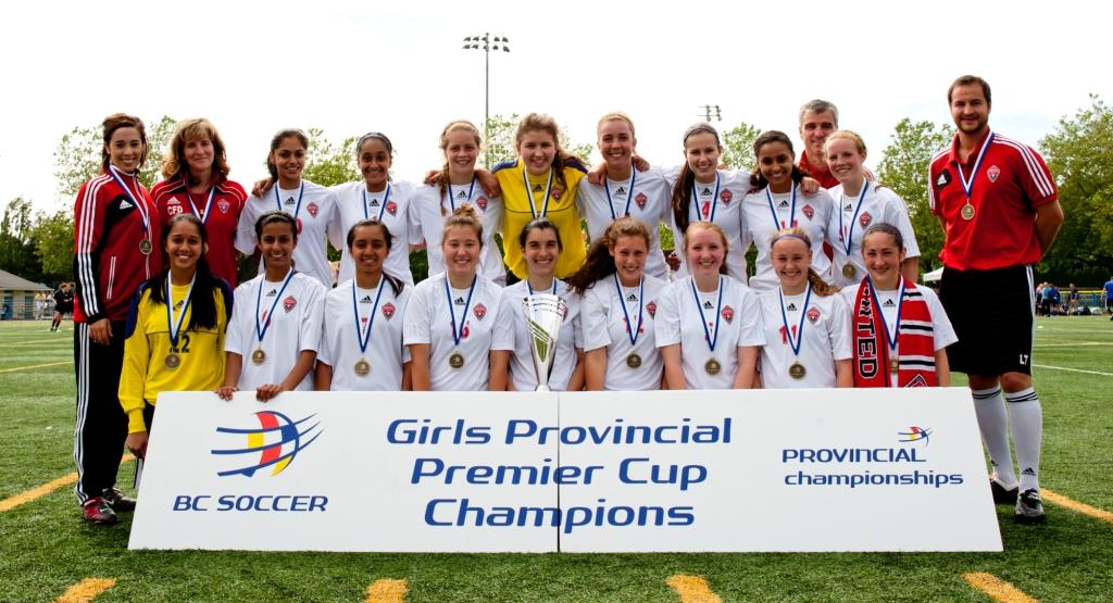 MUFC U16 Girls Provincial Premier Champions