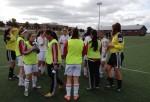 MUFC U16 Girls on the pitch in PEI