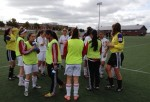 MUFC U16 Girls on the pitch in PEI